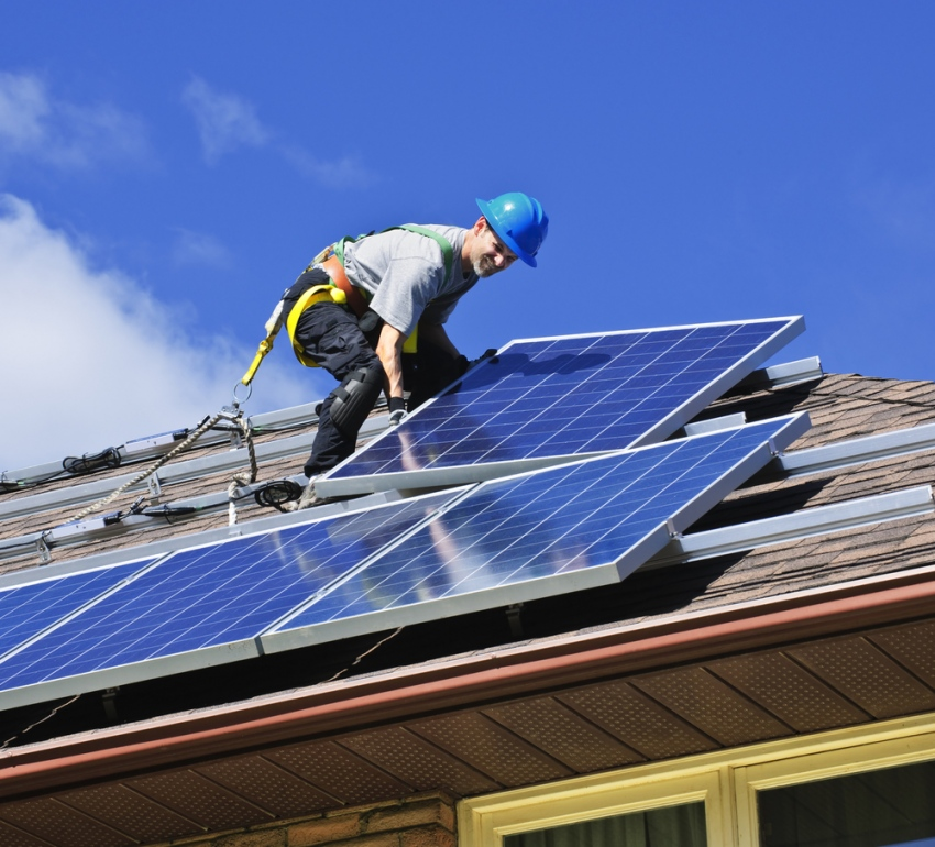 Solar Panel Installation With Surge Protection